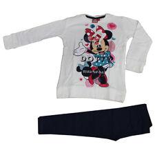 DISNEY Minnie Mouse Rosso Inverno Neve Maglia a maniche lunghe T-shirt Età 3//4 anni