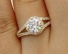 1.75Ct 14K Yellow Gold Round Halo Engagement Wedding Bridal Propose Promise Ring