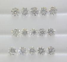 15pc Natural Loose Brilliant Cut Diamond Round VS-SI Clarity G-H Color Good Fire