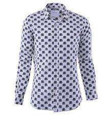 MOSCHINO COUTURE Camisa con Moto Chaquetas Estampado Blanco Impreso Camiseta