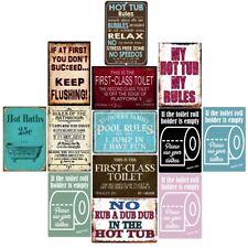 Retro Metal Tin Signs My Hot Tub My Rules Vintage Plate Wall Art Wall Decor