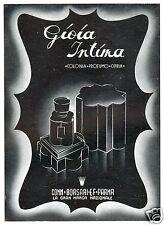 GIOIA INTIMA BORSARI PARMA PROFUMO COLONIA CIPRIA 1942