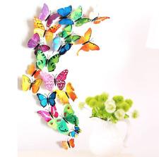Schmetterlinge 3D Wandtattoo Wanddeko Magnet Wandtattoos Wand Deko bunt neu