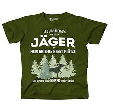 T-Shirt OLIVE JÄGER GRIFFON HUND HUNDE Plätze an JAGD findet Siviwonder