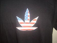 NERO CANABIS USA American Flag Uomo / Donna T-shirt MEDIUM (14-16)