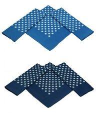 Betz Set di 3 bandane XL misure 60 x 60 cm  colori azzurro e blu marino