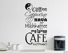 Tatuaggio Parete Cucina Coffee Medley caffè Café CAPPUCINO Esspresso tavolo da pranzo uss158
