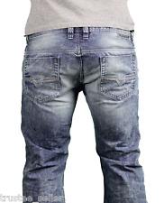 NWT DIESEL BRAND Men Slim Straight Leg Vintage Washed Safado 888J Jeans