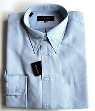 PIERRE CARDIN Shirt Mens Button Down Collar Long Sleeve Polynosic Sky Blue