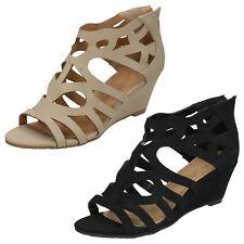 Ladies Anne Michelle Open Toe Wedge Sandals