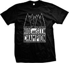 Hide And Seek Champion Bigfoot Yeti Sasquatch Funny Mens T-shirt
