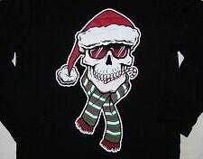 TCP BOY GIRL SANTA CLAUS SKULL CANDY CANE RED HAT CHRISTMAS BLACK T SHIRT S 5/6