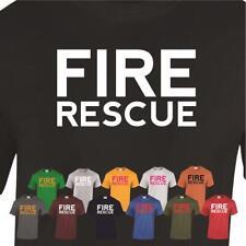 Fire Rescue Men Ladies Unisex Birthday Gift Emergency Present Funny Tshirt