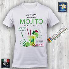 T-shirt Uomo Maglietta MOJITO COCKTAIL BARMAN HAPPY SUMMER HAPPINESS Idea Regalo
