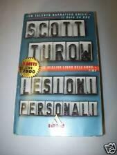 SCOTT TUROW-LESIONI PERSONALI-I MITI 209-MONDADORI-2001 THRILLER! TASCABILE
