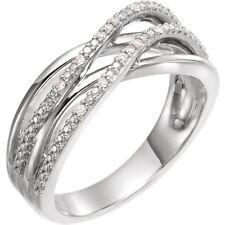 Diamond Criss-Cross Ring In 14K White Gold