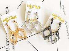 Fashion Shinning Bling Simple Geometry Diamond Shape Drop Dangle Pendant Earring
