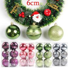60mm 12Pcs/Set Christmas Xmas Tree Ball Bauble Hanging Home Party Ornament Decor