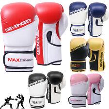 Rex cuir Gants de Boxe Combat Sac de frappe entraînement Muay Thai Coussin MMA