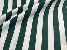 verde kaki a righe Tessuto -SOFIA strisce tenda FODERA materiale 280cm ampiezza