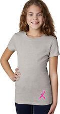 Buy Cool Shirts Girls Breast Cancer T-shirt Pink Ribbon Bottom Print