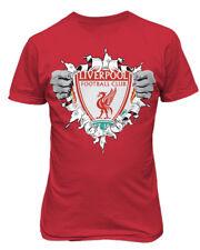 Liverpool Super Hero Logo Soccer Football Futbol Mens & Youth T-Shirt