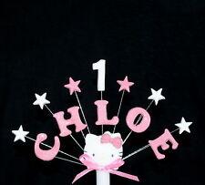 Hello Kitty Personalizzato Compleanno, battesimo cake topper, decorazione per torta