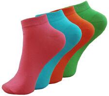 4-8-12-16 Paar Damen NEON Sneaker Socken Sommer Socken knallig und bunt Gr.35-42