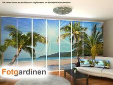 Fotogardinen Palmen, Flächenvorhang, Schiebegardinen mit Motiv, auf Maß