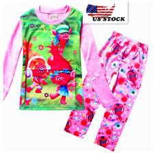 2-Piece Childrens Kids Girls  Trolls Poppy  Pajama Set O15