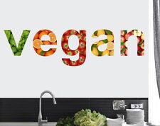 Diseño de presupuesto Vegano Pared Arte Vinilo Calcomanía Pegatinas frutas verduras comida vegetariana
