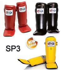 FAIRTEX SP3 SHIN PADS GUARDS MUAY THAI BOXING KICK PROTECTIVE GEAR MMA K1