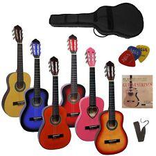 Gitarre/Kindergitarre 1/4-Jugend-Set-mit Tasche, Band/Gurt, Saiten, 3xPlektren!n