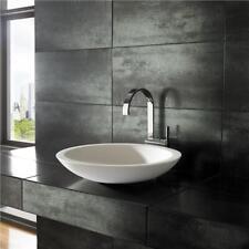 Solid Surface White 51.5cm Diameter Round Countertop Modern Bathroom Sink Basin