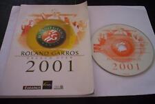 ROLAND GARROS 2001 gioco pc originale tennis