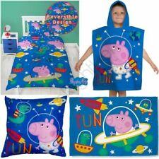 PEPPA PIG GEORGE PLANETS BEDROOM - DUVET BEDDING BLUE KIDS BOYS