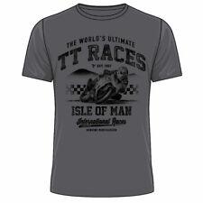 Official Isle of Man TT 19ATS10 - TT Charcoal T-Shirt
