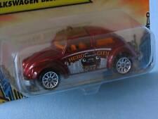 Matchbox 1962 Volkswagon VW Beetle Metallic Red Taxi BP Toy Model Car