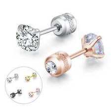 2Stk Titan Stahl Ohrringe für Männer Frauen Ohrringe Diamant Ohrringe Silber