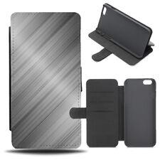 Shiny Metal Printed Flip Phone Case Cover Wallet Design Titanium Steel C247