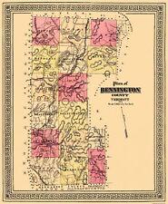 Old County Map - Bennington Vermont - 1876 - 23 x 28