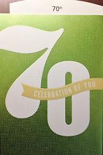 70th BIRTHDAY CARD AGE 70 HAPPY BIRTHDAY  CARD Choice of 9 by HALLMARK