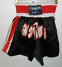 Pantaloncino corto nero GIMER art.11/170 Arti marziali Thai Boxe short Palestra