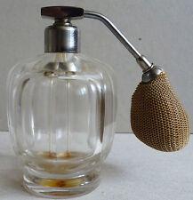 Superbe flacon à parfum vaporisateur en cristal de BACCARAT vers 1930 Art Deco