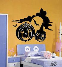 Happy Halloween Pumpkin Family Bedroom Livingroom Wall Art Decal Vinyl Sticker