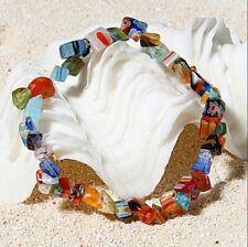 Healing Reiki Chakra Women Jewelry Fashion Crystal Chip Beads Stretchy Bracelet