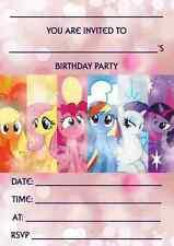 Paquetes de lanzamiento un 10/20/30 / 40 Mi Pequeño Pony Invitaciones-Carteles Tarjetas Dvd Juguetes Banners