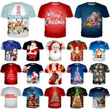 Fashion Christmas Print 3D T-Shirt Women Men Casual Short Sleeve Tee Xmas Gift