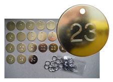 Engraved Key Tags Brass Door Room Number Identity Tag Keyring Hotel B&B School