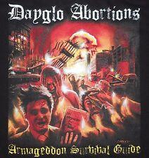 Dayglo Abortions - Armageddon Survival Guide shirt / New / S M L XL 2XL (Black)